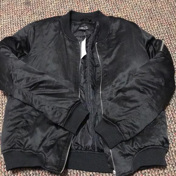 3d20f964bc584 Rue 21 Jackets & Coats | Cute Black Bomber Jacket | Poshmark